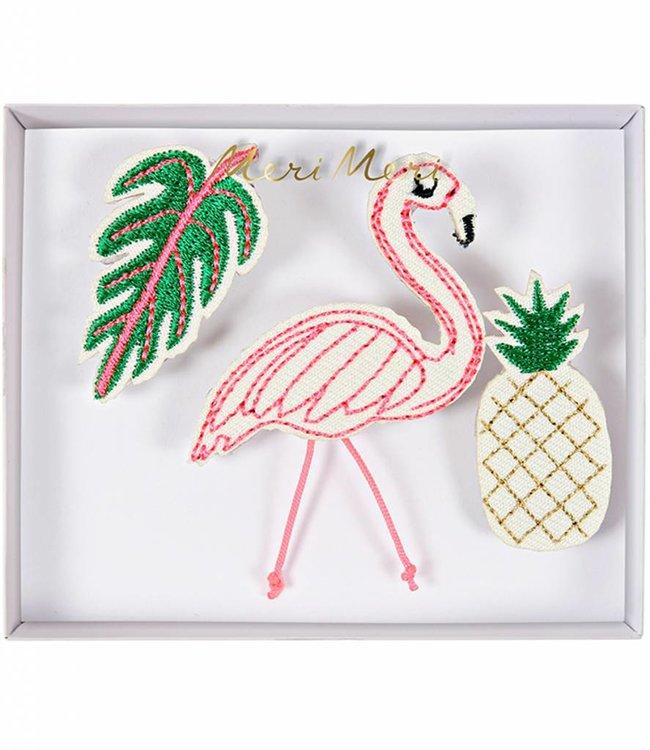 Meri Meri 3 Broches - Flamingo