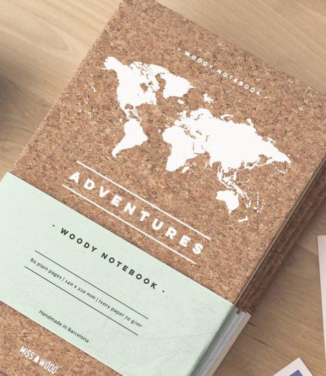 Miss Wood Notitieboek Kurk - Adventure