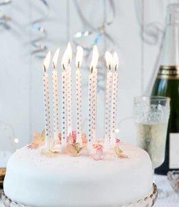 Dotcomgiftshop Lange verjaardagskaarsen - zilver