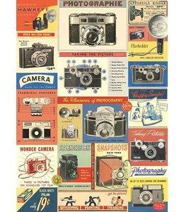Cavallini & Co Poster/cadeaupapier - Vintage camera's