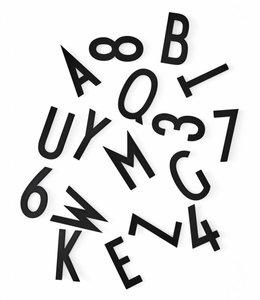 Design Letters Set met grote letters en cijfers - zwart