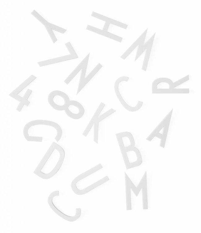 Design Letters Set met grote letters en cijfers - wit