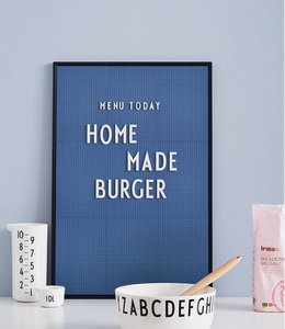 Design Letters Letterbord A2 - blauw