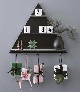 Design Letters Wandrek driehoekig - Zwart/wit