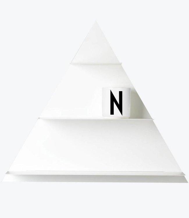 Design Letters Wandrek driehoekig - Wit