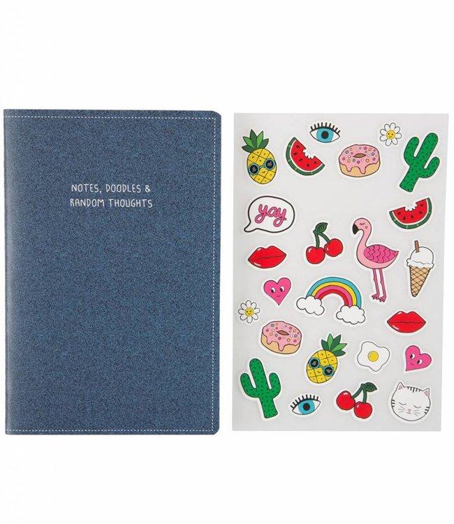 Sass & Belle A5 notitieboek + stickers - blanco