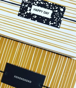 Jurianne Matter 6 Cadeau labels - Happy Day
