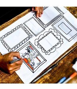 Eat Sleep Doodle Placemat set van 4 - Frames