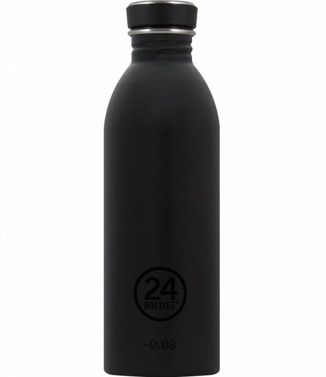 24Bottles Urban drinkfles 0,5l - Zwart