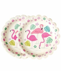 Dotcomgiftshop Kartonnen bordjes - Flamingo