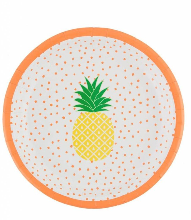 Sass & Belle Kartonnen bordjes - Ananas