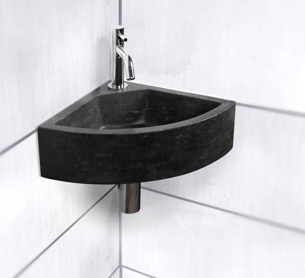 Fontein corner kwartrond 42x30x11 cm megadump tiel megadump tiel - Toilet wastafel ...