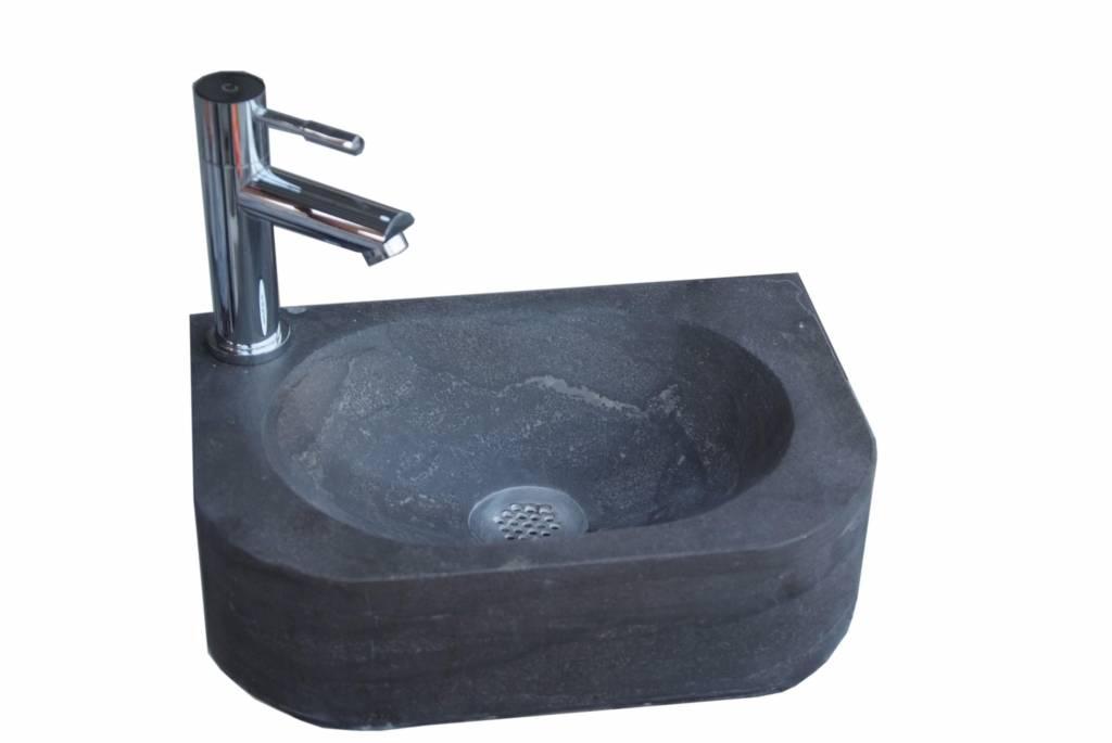 Fontein Natuursteen Toilet : Aqua royal hardsteen fontein flow links of rechts cm