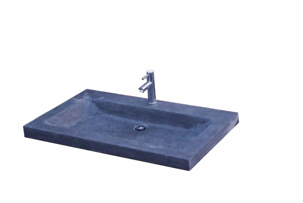 Wastafel trend stone 80x47x5 cm megadump tiel megadump tiel - Toilet wastafel ...