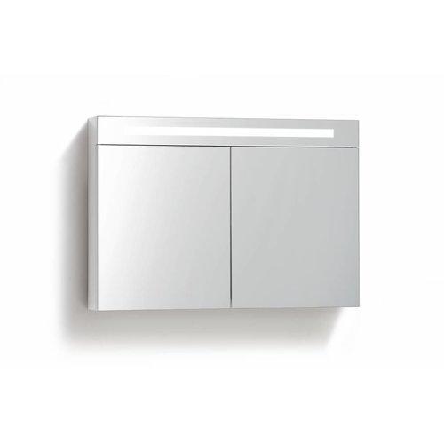 Spiegelkast 100 Cm Met Tl Verlichting En Stopcontact 4 Kleuren Leverbaar