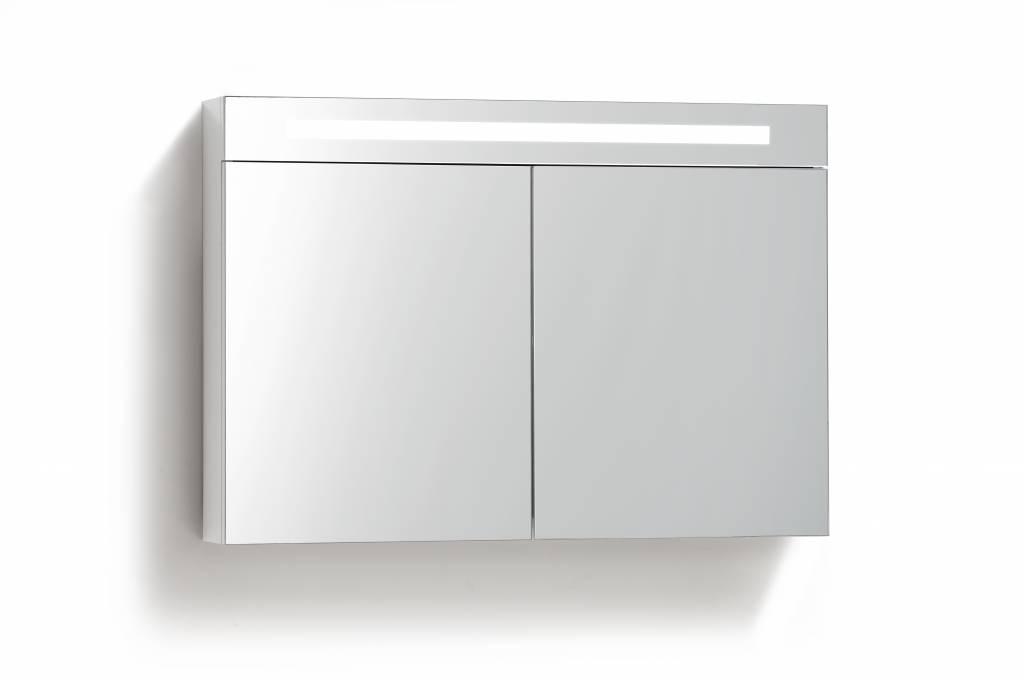 Aqua Royal Spiegelkast 100 Cm Met Tl Verlichting En Stopcontact 4 ...