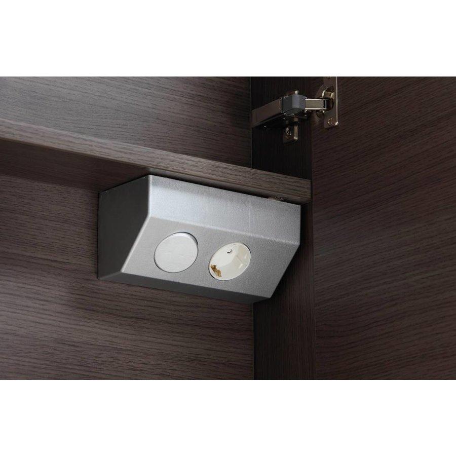 Aqua royal spiegelkast 100 cm met tl verlichting en for Badkamer spiegelkast met verlichting en stopcontact