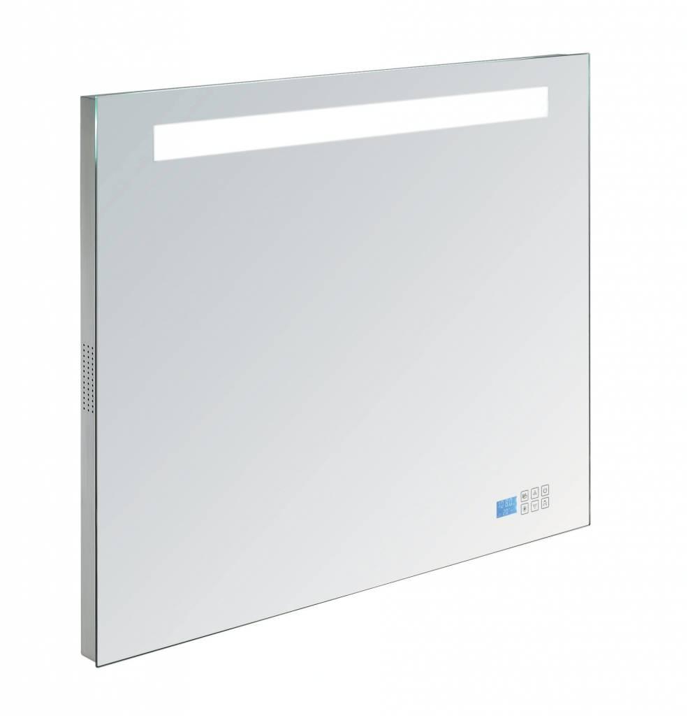 Aqua royal radio spiegel 120 cm met tl verlichting en for Verlichting spiegel