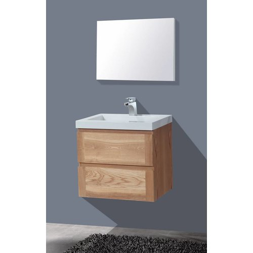 Aqua Royal Badmeubel Senza Wood 60Cm Massief Geolied Eiken