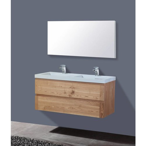 Aqua Royal Badmeubel Senza Wood 120Cm Massief Geolied Eiken