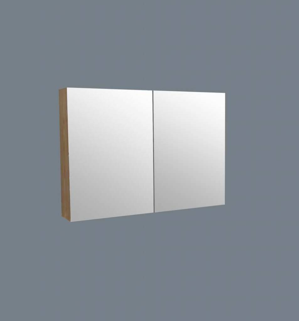 Aqua Royal Spiegelkast Wood 120Cm | Spiegels - Megadump Tiel