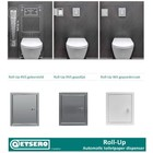 Etsero Roll-Up inbouw toiletrolhouder (voor 6 rollen)