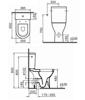 Plieger Duoblok Verhoogd Toiletten Megadump Tiel