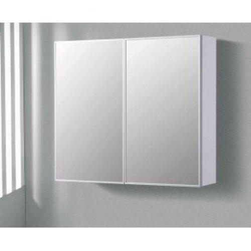 Aqua royal spiegelkast 100 cm met tl verlichting en for Spiegel 90x60