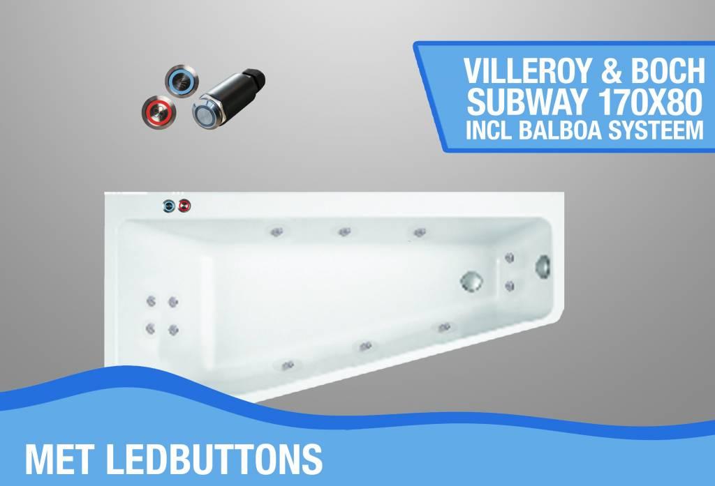 Subway Whirlpool Links 170X80X45 Cm Met Balboa Whirlpool Bad Systeem