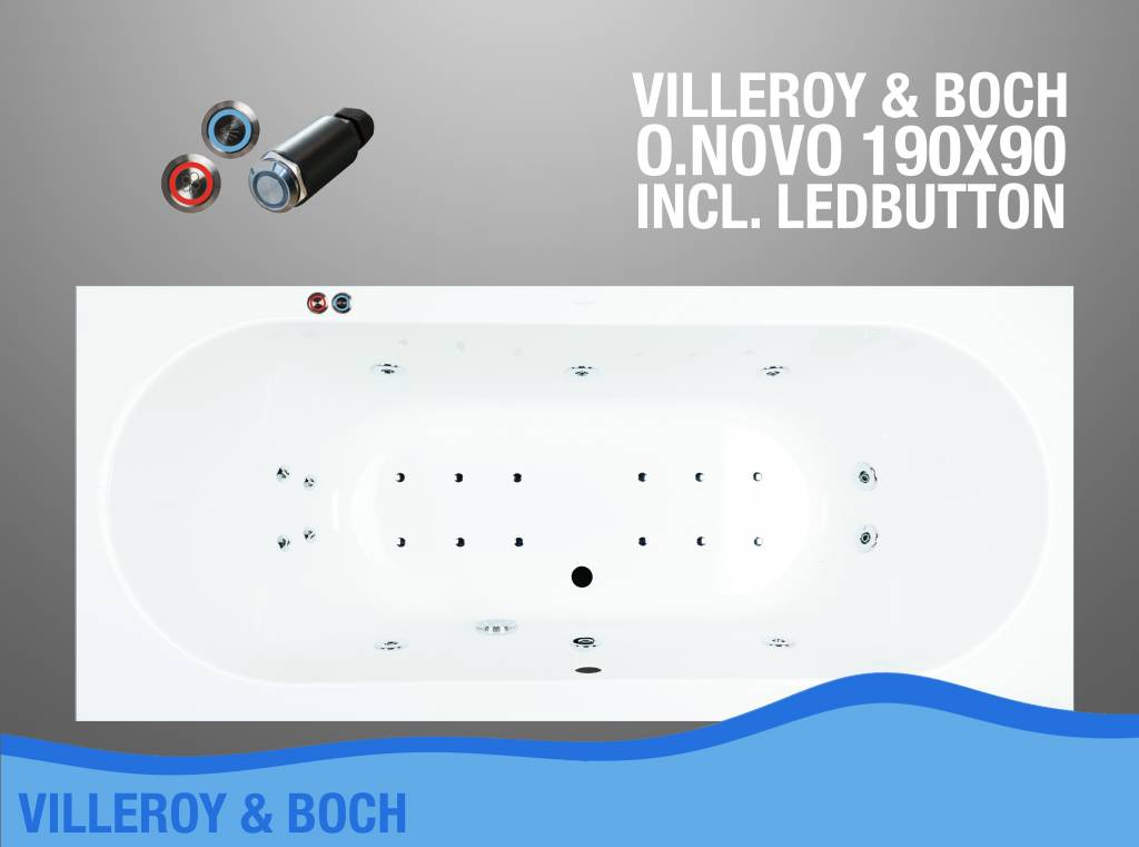 Villeroy Boch Whirlpool : villeroy en boch o novo whirlpool 190x90x50 cm met balboa ~ Watch28wear.com Haus und Dekorationen