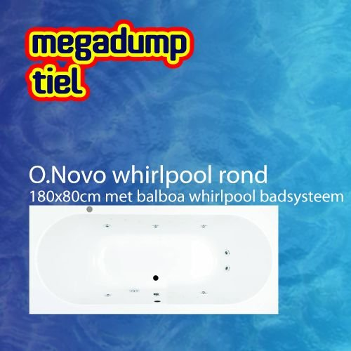 Villeroy en Boch O.novo Whirlpool Rond 180X80X50 Cm Met Balboa Whirlpool Bad Systeem
