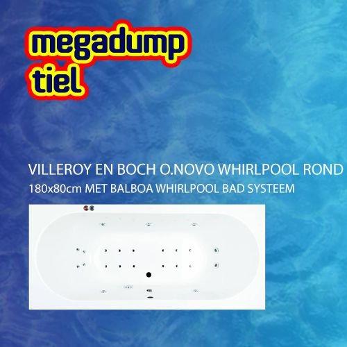 O.Novo Whirlpool Rond 180X80X50 Cm Met Balboa Whirlpool Bad Systeem