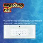 Villeroy en Boch O.novo Whirlpool Vierkant 180X80X48 Cm Met Balboa Whirlpool Bad Systeem