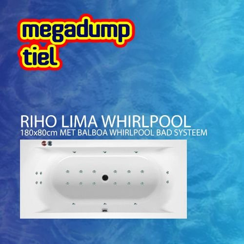 Riho Ligbad Lima 180x80x46 cm met balboa whirlpool bad systeem