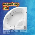 Capri whirlpool hoekbad 140x140x45 cm combipool