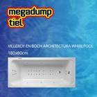 Villeroy en Boch Architectura Whirlpool 180X80X50 Cm Sportpakket Deluxe