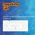 Villeroy en Boch O.novo Whirlpool Rond 190X90X50 Cm Sportpakket Deluxe