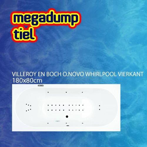 Villeroy en Boch O.novo Whirlpool Rond 180X80X50 Cm Sportpakket Deluxe