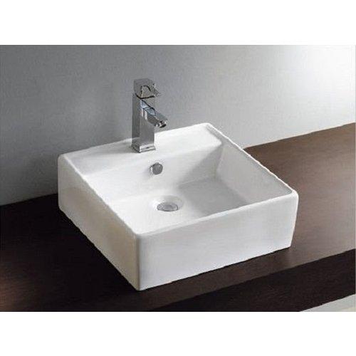 Aqua Splash Keramische Opzetwastafel Larx 46X46X16,5 Cm