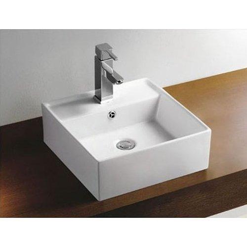 Aqua Splash Keramische Opzetwastafel Larx 41X41X15 Cm