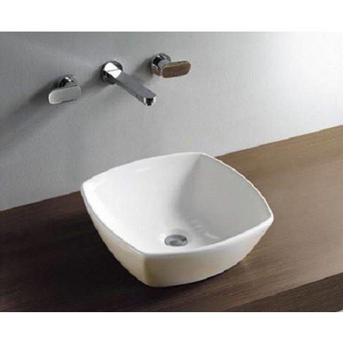 Aqua Splash Keramische Plaza Opzetwastafel 42X42X13,5 Cm