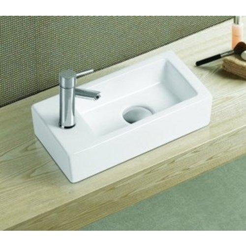 keramisch fontein Qubic Mini 36,5x18x9 cm rechts/links
