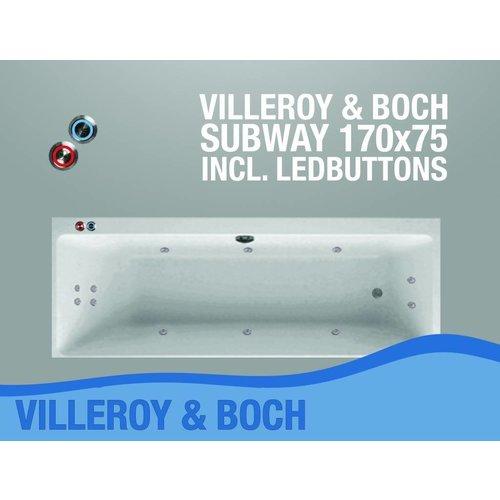 Villeroy en Boch Subway Whirlpool 170X75X45 Cm Met Balboa Whirlpool Bad Systeem