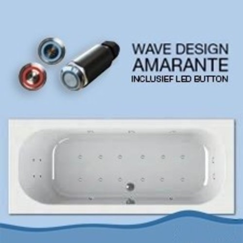 Wisa Forenza Whirlpool 180X80 Cm Inclusief Led Buttons