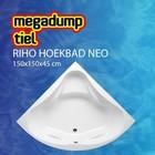 Riho Hoekbad Neo 150X150X45 cm wit