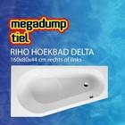 Riho Hoekbad Delta 160X80X44 cm rechts/links wit