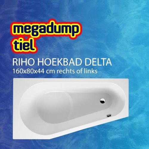 Hoekbad Delta 160X80X44 Cm Rechts/Links Wit