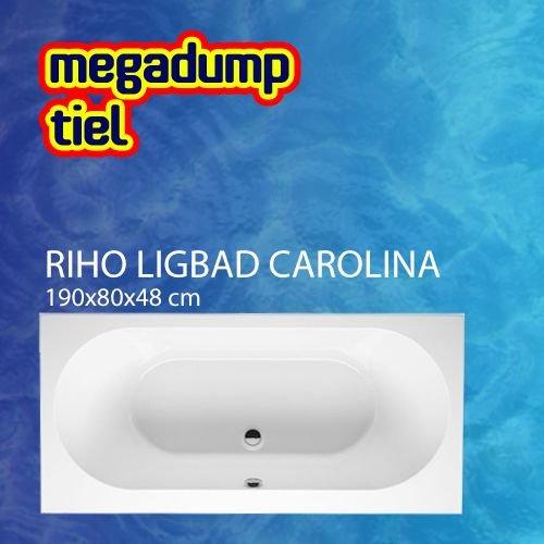 Ligbad Carolina 190X80X48 Cm Wit