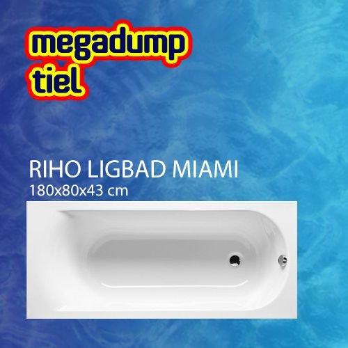 Ligbad Miami 180X80X43 Cm Wit