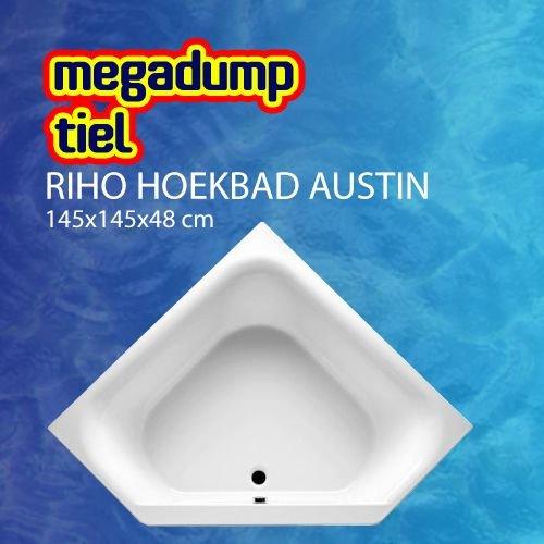 Hoekbad Austin 145X145X48 Cm Wit